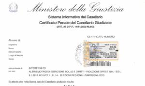 certificado antecedentes penales italiano